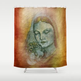 the mother and her child Shower Curtain