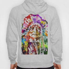 Native American Grunge Watercolor Hoody