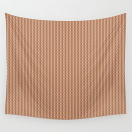 Cavern Clay SW 7701 Vertical Stripes and Diamond Grid on Ligonier Tan SW 7717 Wall Tapestry