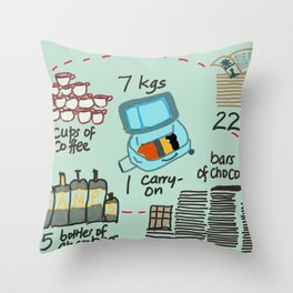 Carry on Seven Throw Pillow