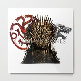 Iron Throne Fire & Ice Metal Print