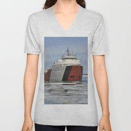 Philip R Clarke freighter Unisex V-Neck