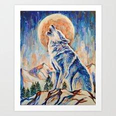Wolf Lobo Art Print