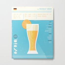 Wheat Beer Art Print Weizen Bier Poster Metal Print