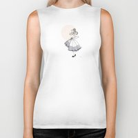 dress Biker Tanks featuring Poofy Dress by fossilized