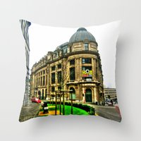 brussels Throw Pillows featuring Brussels by haroulita