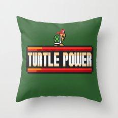 Turtle Power Throw Pillow