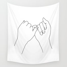 Pinky promise Wall Tapestry
