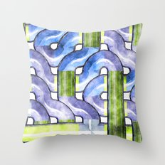 Pipelines watercolor Throw Pillow