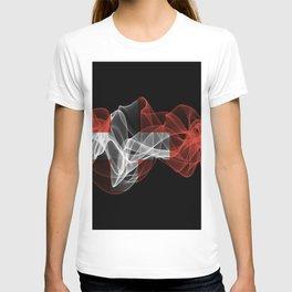 Switzerland Smoke Flag on Black Background, Switzerland flag T-shirt
