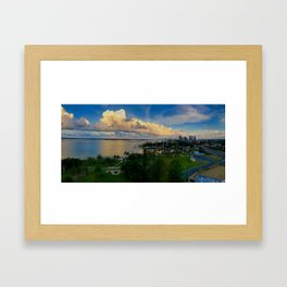 Panorama of The Gold Coast Framed Art Print