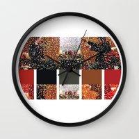 klaine Wall Clocks featuring It's Colorful Outside by Jen K