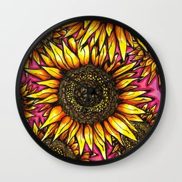 Sunrise Flowerkingdom Wall Clock