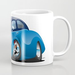 30's American Street Rod Custom Coupe Cartoon Coffee Mug