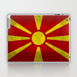 Flag of Macedonia in Super Grunge Laptop & iPad Skin