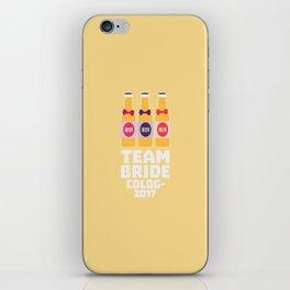 Team Bride Cologne 2017 T-Shirt Dpn32 iPhone Skin