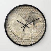 seashell Wall Clocks featuring SEASHELL by Mary Szulc