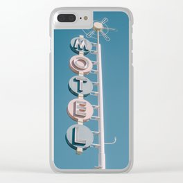 Motel signage Clear iPhone Case