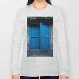 Blue Shutters - Hoi An, Vietnam Long Sleeve T-shirt