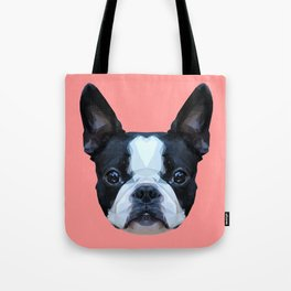 Frenchie / Boston Terrier // Pink Tote Bag