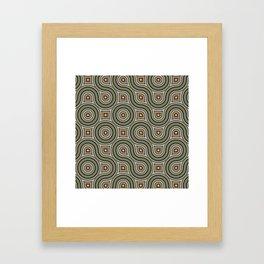 Round Truchets in CMR 01 Framed Art Print