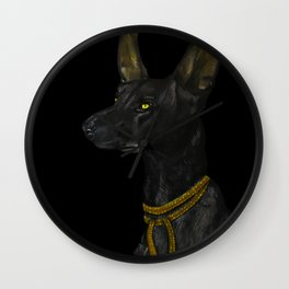 Egyptian Dog Wall Clock
