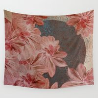 leah flores Wall Tapestries featuring Flores by MACACOSS