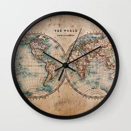 Vintage Map of the World 1800 Wall Clock