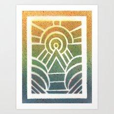 Drawing Meditation: Stencil 2 - Print 1 Art Print
