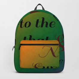 Never Surrender/Inspirations and Patterns 1 Backpack