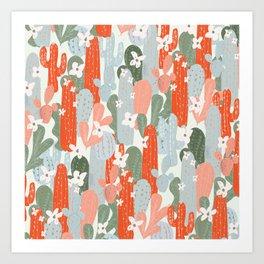 Floral Cactus Art Print