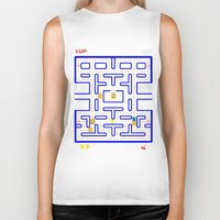 simpsons Biker Tanks featuring simpsons V pacman  by Yousef