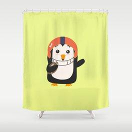 Football Penguin with ball T-Shirt Da48e Shower Curtain