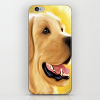 lab iPhone & iPod Skins featuring Yellow Lab by Becky's Digital Art