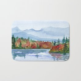 Mirror Lake in Autumn Bath Mat