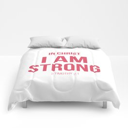 In Christ, I am strong Comforters