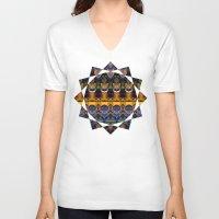 life aquatic V-neck T-shirts featuring Aquatic by Zandonai Pattern Designs
