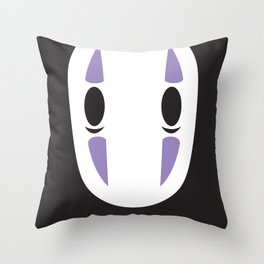 No Face Block Throw Pillow