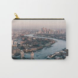 Aerial photography of London skyline during daytime Carry-All Pouch