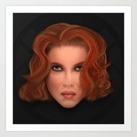 Icon Series 5: (Human Avenger 1/3) Natasha Romanov AKA Black Widow Art Print