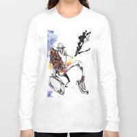 hunter s thompson Long Sleeve T-shirts featuring Hunter S Thompson by BINDU by BINDU