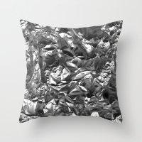 heavy metal Throw Pillows featuring Heavy Metal Crush by BruceStanfieldArtist.DarkSide