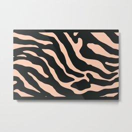 Tiger Skin Pattern Apricot Metal Print