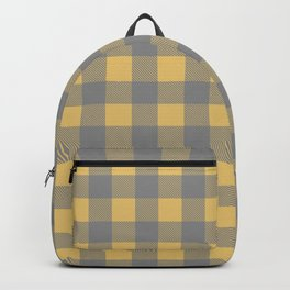 Hannibal Will Graham Digestivo Yellow and Gray Plaid Backpack