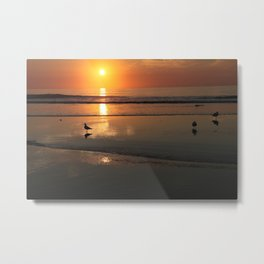 Sunrise over the beach in Ogunquit, Maine  2012 Metal Print