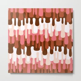Funny Liquid Abstract Colorful Pattern 005 Metal Print