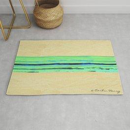 Modern Movement 001 - Corbin Henry Signed - Abstract Landscape Canvas Art - Seascape - Ocean Rug
