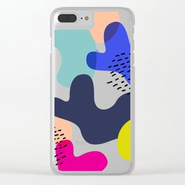 Fluorescent Adolescent Clear iPhone Case