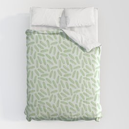 Cool as a cucumber! Seamless pattern design with green cucumbers Comforters