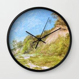 12,000pixel-500dpi - Friedrich Loos - Dune beach on the Baltic Sea - Digital Remastered Edition Wall Clock